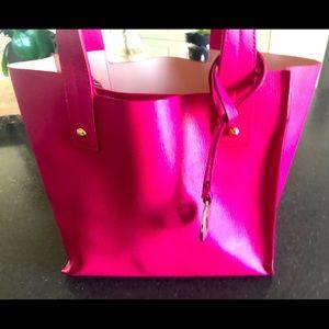 Authentic Furla Muse Saffiano leather pink purse